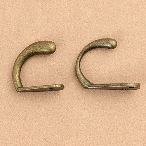 Set of 20 heavy duty wall mount hat hook antique brass for Hooks to hang purses