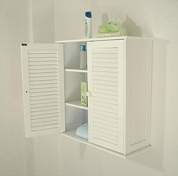 Badezimmer Hängeschränke , weiß,HC-011: Amazon.de: Küche & Haushalt