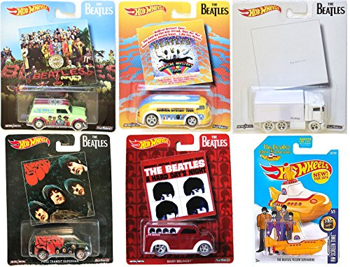 - Hot Wheels 2017 The Beatles Album Covers Pop Culture Collectibles + Yellow Submarine - The White Album / Rubber Soul / A Hard Days Night / Magical Mystery Tour / Sergeant Peppers