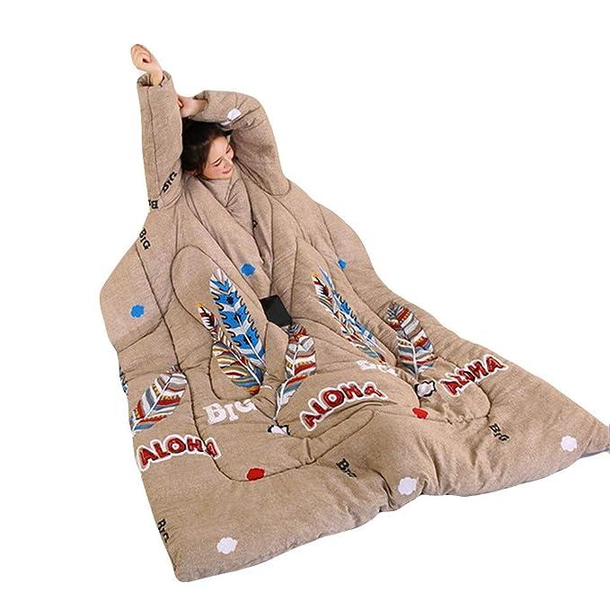 Saihui_Blankets & Quilts Edredón de Invierno con Mangas para Invierno, multifunción, cálido, Grueso, para Adultos, C, 150cmX200cm: Amazon.es: Hogar