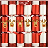 "Robin Reed 6 x 13"" Racing Reindeer Clockwork Christmas Crackers"