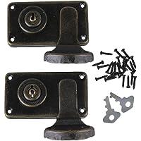 BQLZR bronce Vintage Lock cierre latch Catch DIY