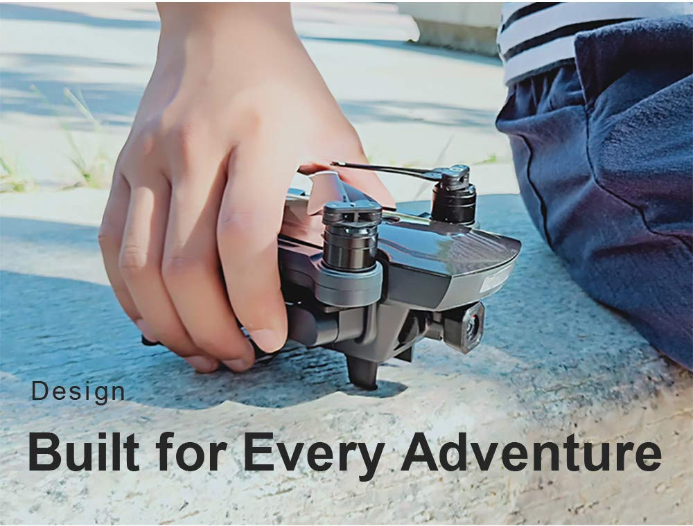 Choosebuy GPS Folding RC Drone with HD Electric Camera, FPV 2.4G/Altitude Hold/WiFi Control/Foldable Quadcopter/Outdoor Toy Gift for Beginners for Adults (B) by Choosebuy (Image #4)