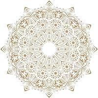 TODO STENCIL Deco Fondo 113 Mandala, Medidas: Stencil 20 x 20 cm - Diseño