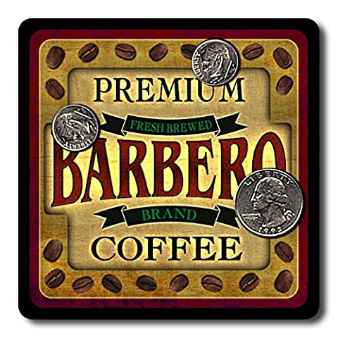 Barbero Coffee Neoprene Rubber Drink Coasters - 4 Pack - Barbera Coffee