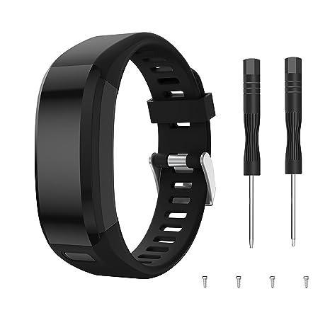 SUPORE Garmin Vivosmart HR Bracelet, Accessoires réglable Silicone Souple Bracelet de Montre de Remplacement conçu pour Garmin Vivosmart HR Smart Sport ...