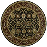 Cheap Traditions Morris Round Rug, 8-Feet by 8-Feet, Black