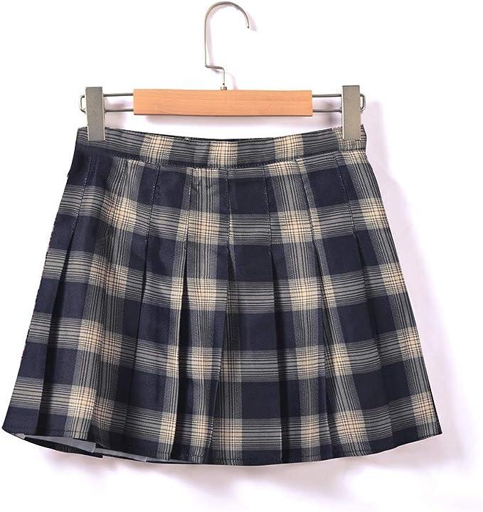 beautyjourney Minifalda a Cuadros para niñas Falda Plisada Faldas ...