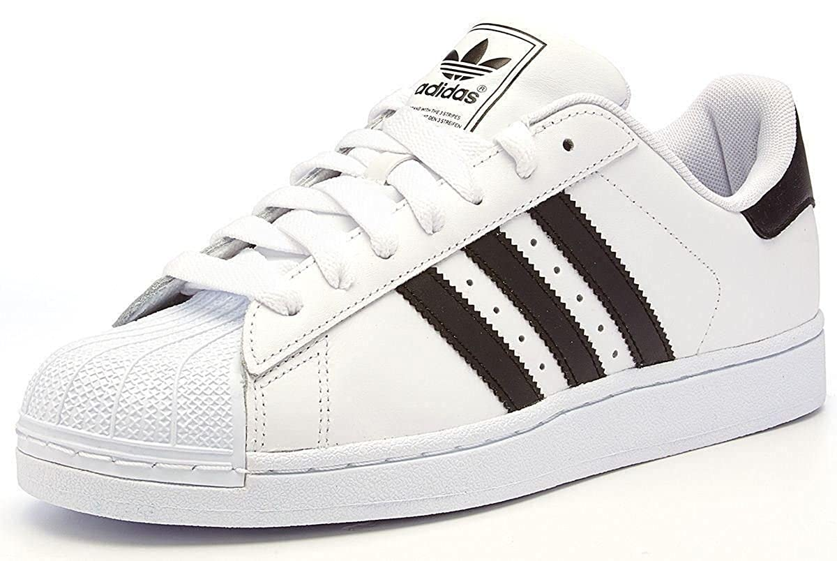 half off 5e503 1c026 adidas Originals superstar 2 II leather trainers white ...