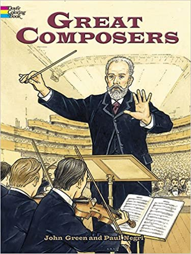 Amazon com: Great Composers (Dover History Coloring Book