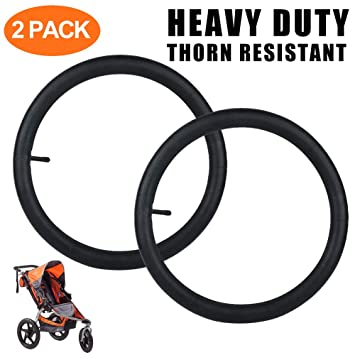 Heavy Duty BOB Stroller Front Wheel Replacement with Straight Valve Stem and Cap Thorn Resistant 12.5 x 1.75//2.15 Stroller Inner Tube for Bob Revolution SE//Flex//Pro//Stroller Strides//Ironman