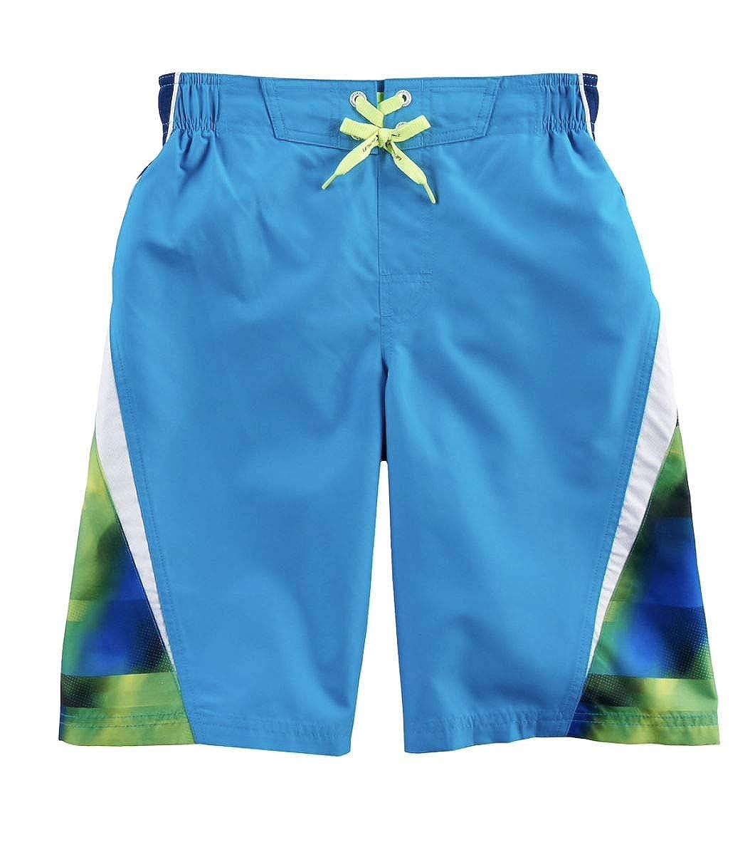ZeroXposur Boys Printed Swim Trunks 8, Deep Aqua
