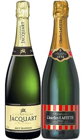 2 botellas de champán de famosas Maisons de Champagnes Charles Lafitte y Jacquart - LE WINE