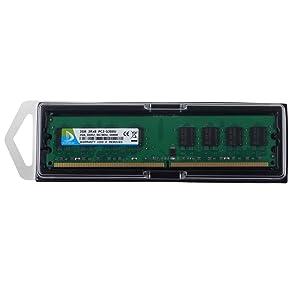 DUOMEIQI 4GB Kit (2 X 2GB) 2RX8 DDR2 667MHz DIMM PC2-5300 PC2-5400 PC2-5300U CL5 1.8v 240 PIN 5300U Non-ECC Unbuffered Desktop Memory RAM Module Compatible with Intel AMD System (Color: 4GB Kit Large Board, Tamaño: Udimm)