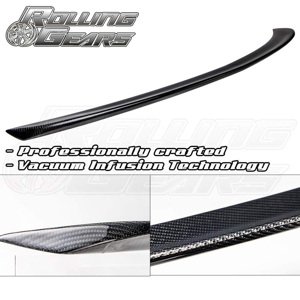 Gloss Black R.G Performance Carbon Fiber Trunk Spoiler Fits Tesla Model S Sedan 2012-2018