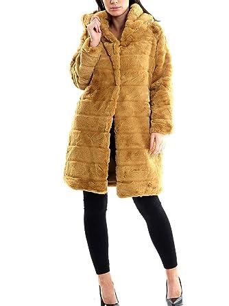 SS7 Femmes en Fausse Fourrure Manteau Moutarde Veste Longue  Amazon.fr   Vêtements et accessoires 57d079fc5f75