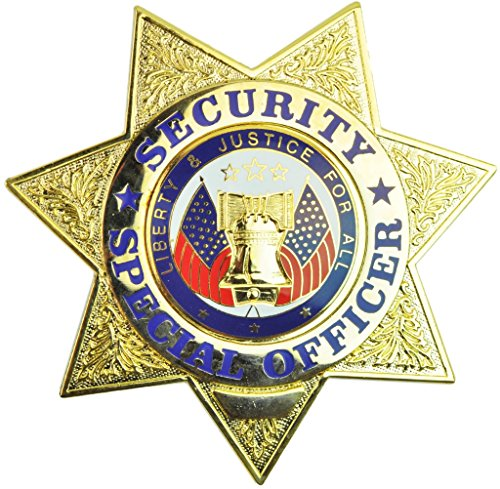 Tactical 365 Operation First Response 7 Point Star - Security Gold Badge