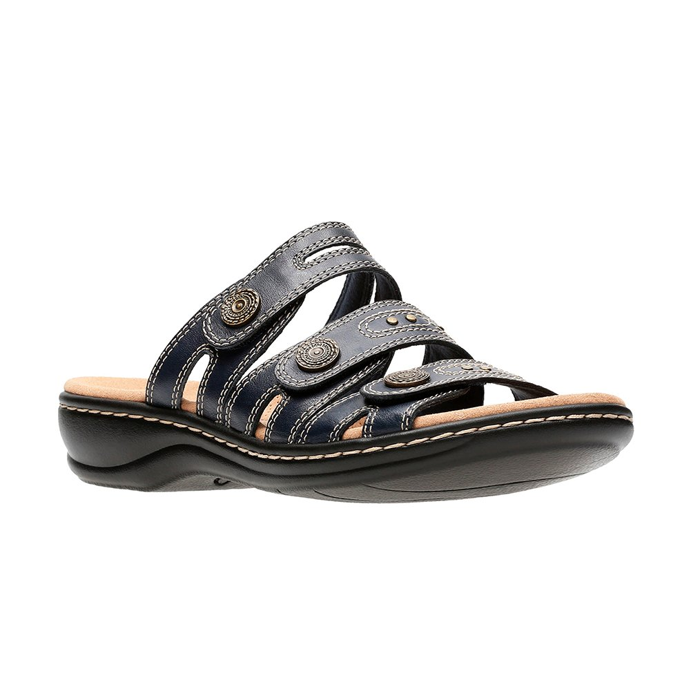CLARKS Leisa Lakia Women's Sandal B0788XN4YZ 6.5 W US|Navy