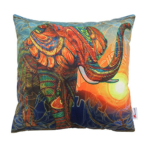 Monkeysell The new square Europe and the United States abstract Elephant patterns Digital printing pillowcase/pillow cover 18 x 18 inch (S029A1)