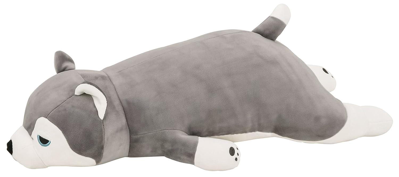 Comolife Cute Dog 'Husky' Plush Soft & Comfortable Body Pillow , Size   W21.84 x D8.58 x H5.46 Inch