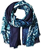 Calvin Klein Women's Ombre Border Floral Printed Pashmina Scarf, Cypress, One Size