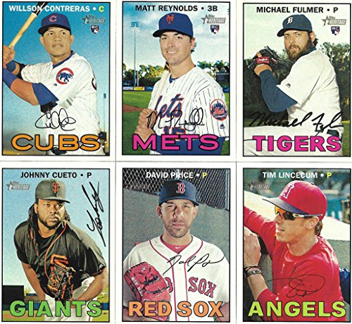 2016 Topps Heritage MLB Baseball High Number Series Complete Mint Basic 200 Card Set LOADED with Rookies and Stars including Wilson Contreras, David Price, Tim Lincecum Plus