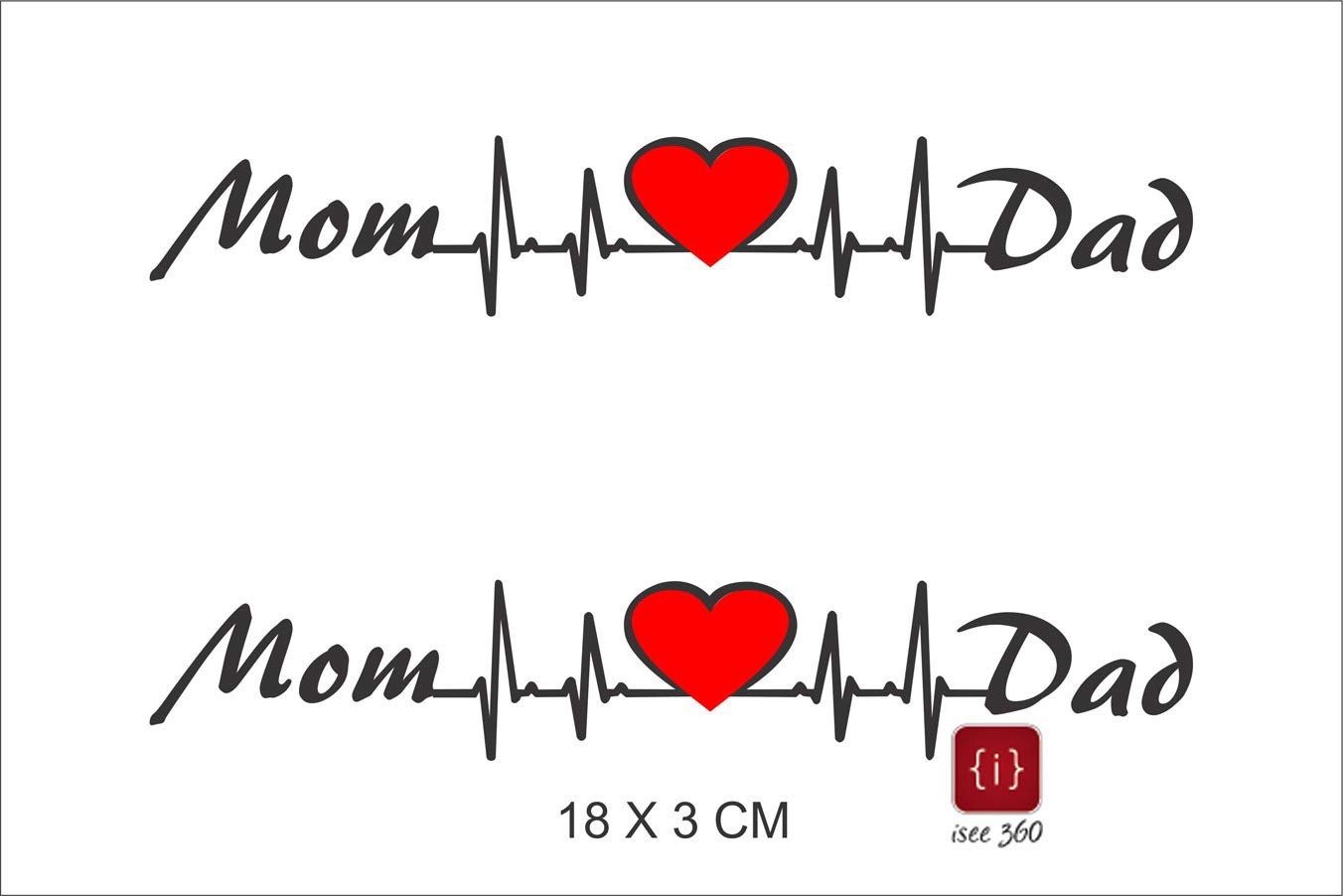 Isee 360 mom love dad sticker for bike pulser 200ns dio
