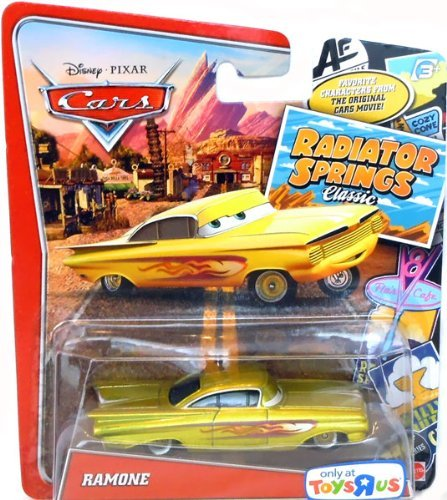 Disney / Pixar CARS RADIATOR SPRINGS CLASSIC Exclusive 1:55 Die Cast Car GOLD - Gold Car Diecast