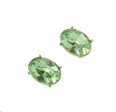 c15187314 Image Unavailable. Image not available for. Color: WOAP+ Introduces 24K  Gold Plated Swarovski Stone Studded Earring Set