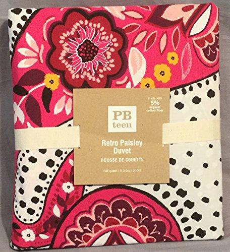Retro Paisley Full/Queen Duvet Cover