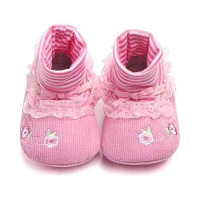 Auwer Lovely Autumn Toddler First Walkers Baby Shoes Round Toe Flats Soft Slippers Shoes