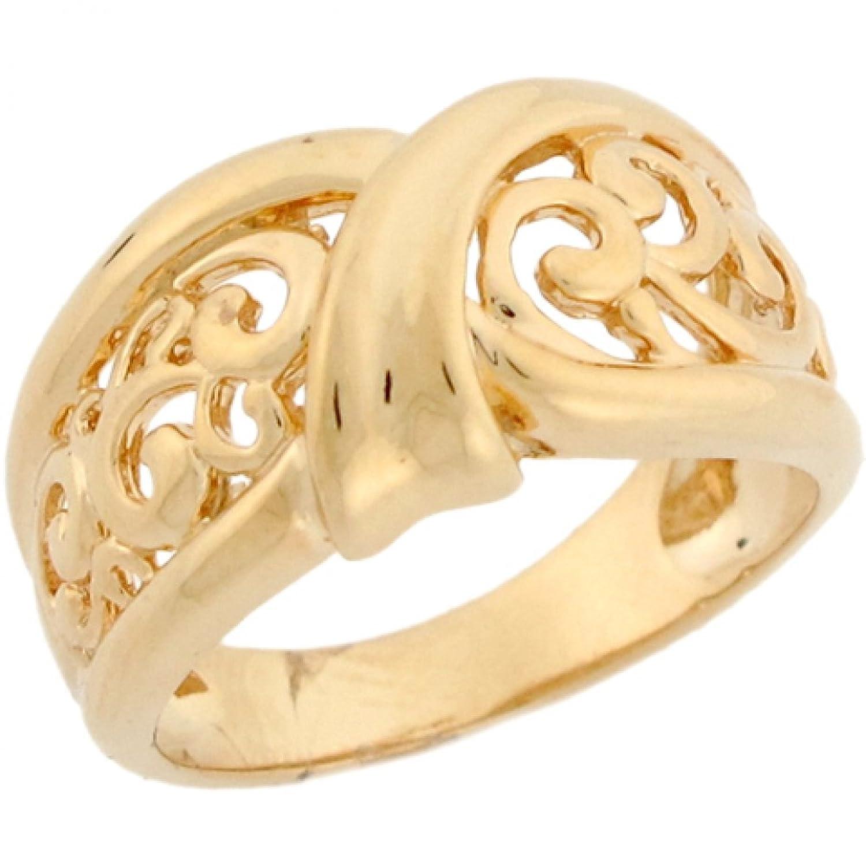 14k Real Yellow Gold Bold Wrap Vine Designer Band Ladies Ring