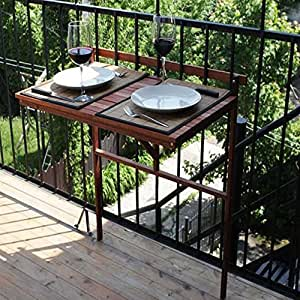 Patio wise pwbt 023 space saver condo balcony for Space saving hanging table for balcony
