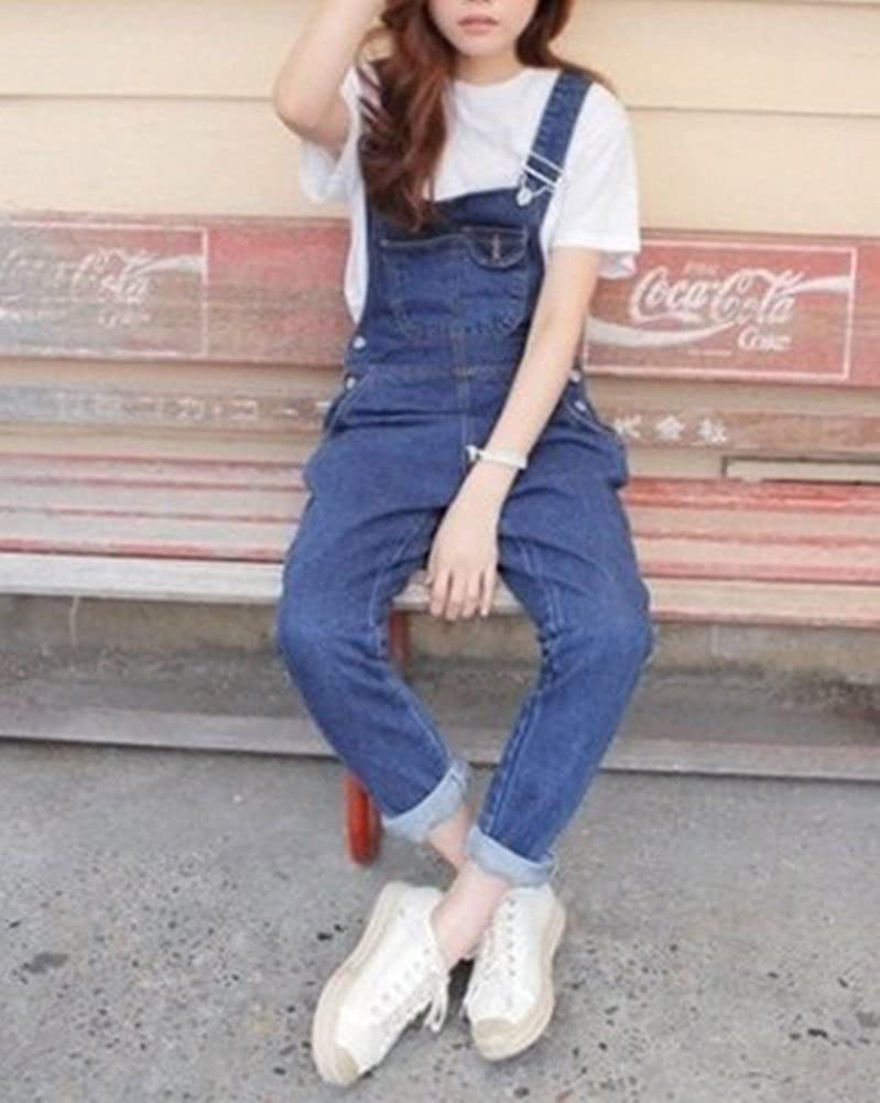 77c18370cc MISSMAO Women Casual Denim Wash Jeans Pants Demin Overall Ladies Jumpsuit  Dungaree  Amazon.co.uk  Clothing