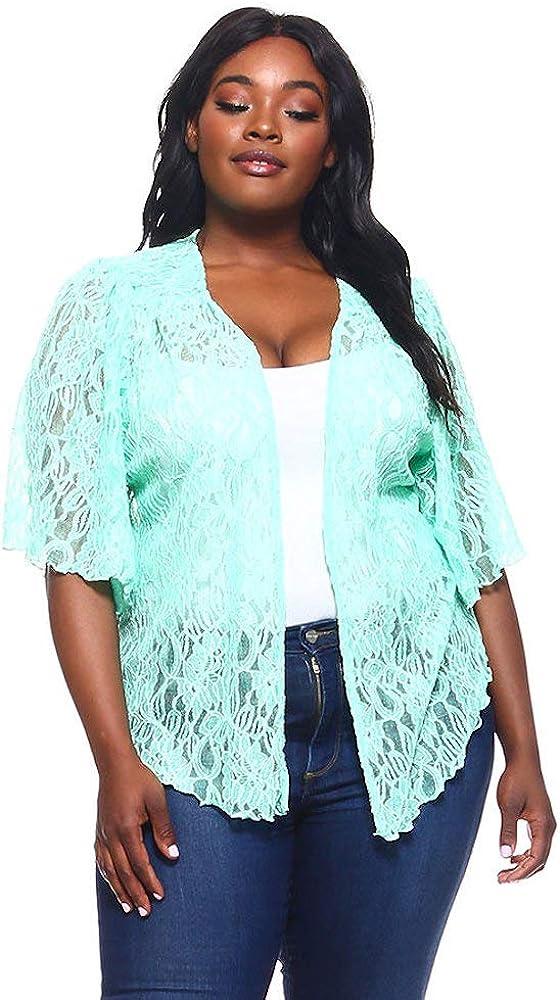 Womens BLACK Plus Size 6X Chiffon Cardigan Bolero Shrug Top WearOrGoBare