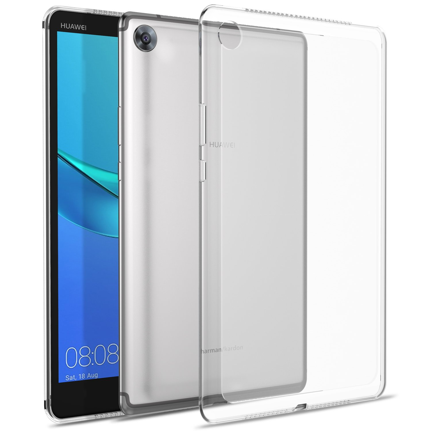 official photos d2460 e859d ELTD TPU Case for Huawei MediaPad M5 8.4, TPU Protective Back Case Cover  for Huawei MediaPad M5 8 Inch 2018 (Clear)
