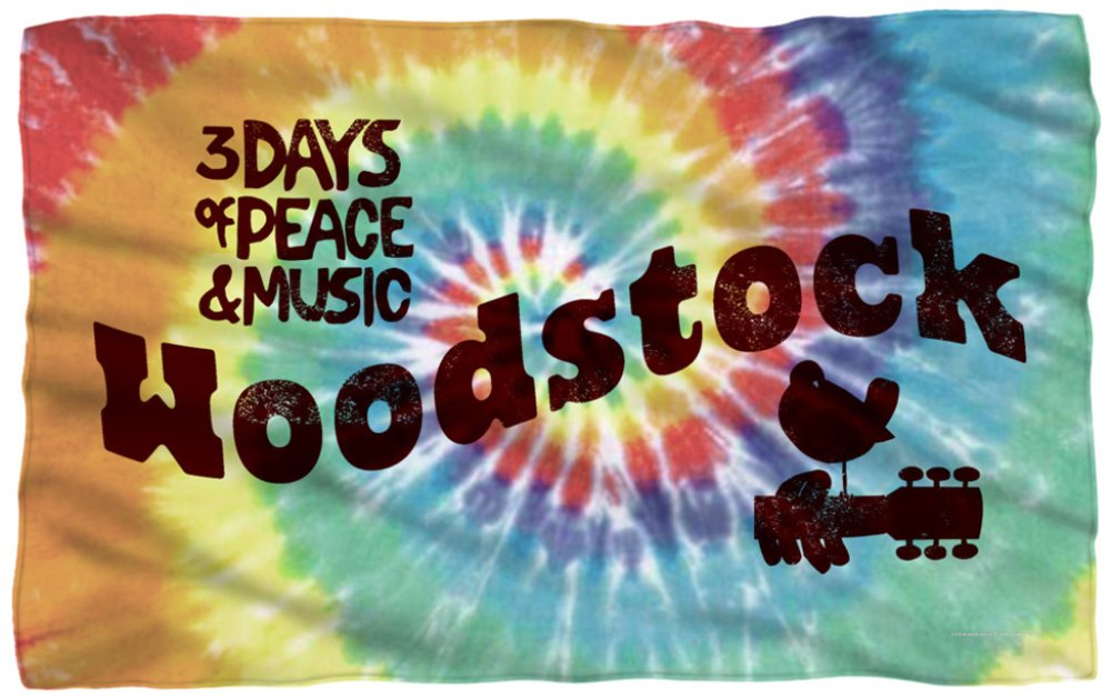 Woodstock - Tie Dye Fleece Blanket 58 x 36in