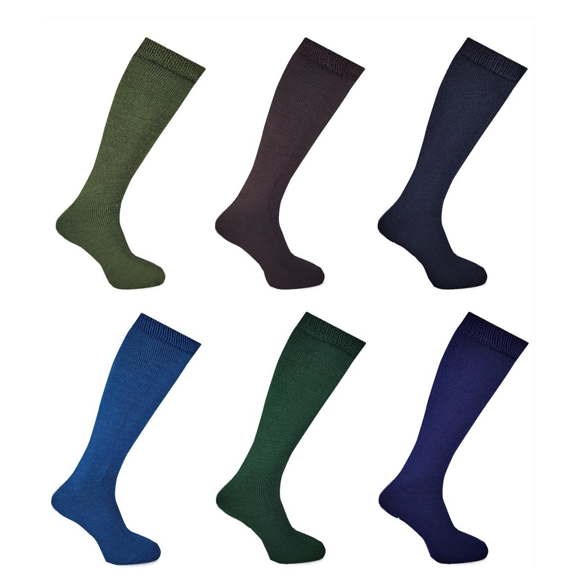 3 Pairs Mens Wellington Boot Socks Assorted Size 7-12 EU 40-47 Free Post
