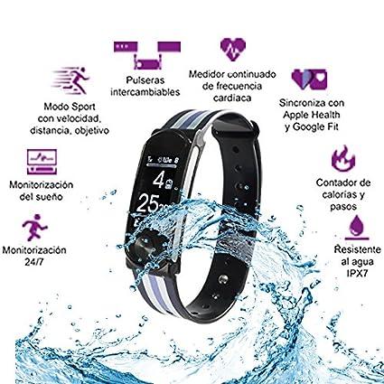 Leotec LEPFIT10K4 Smart Watch Armbanduhr: Amazon.es: Electrónica