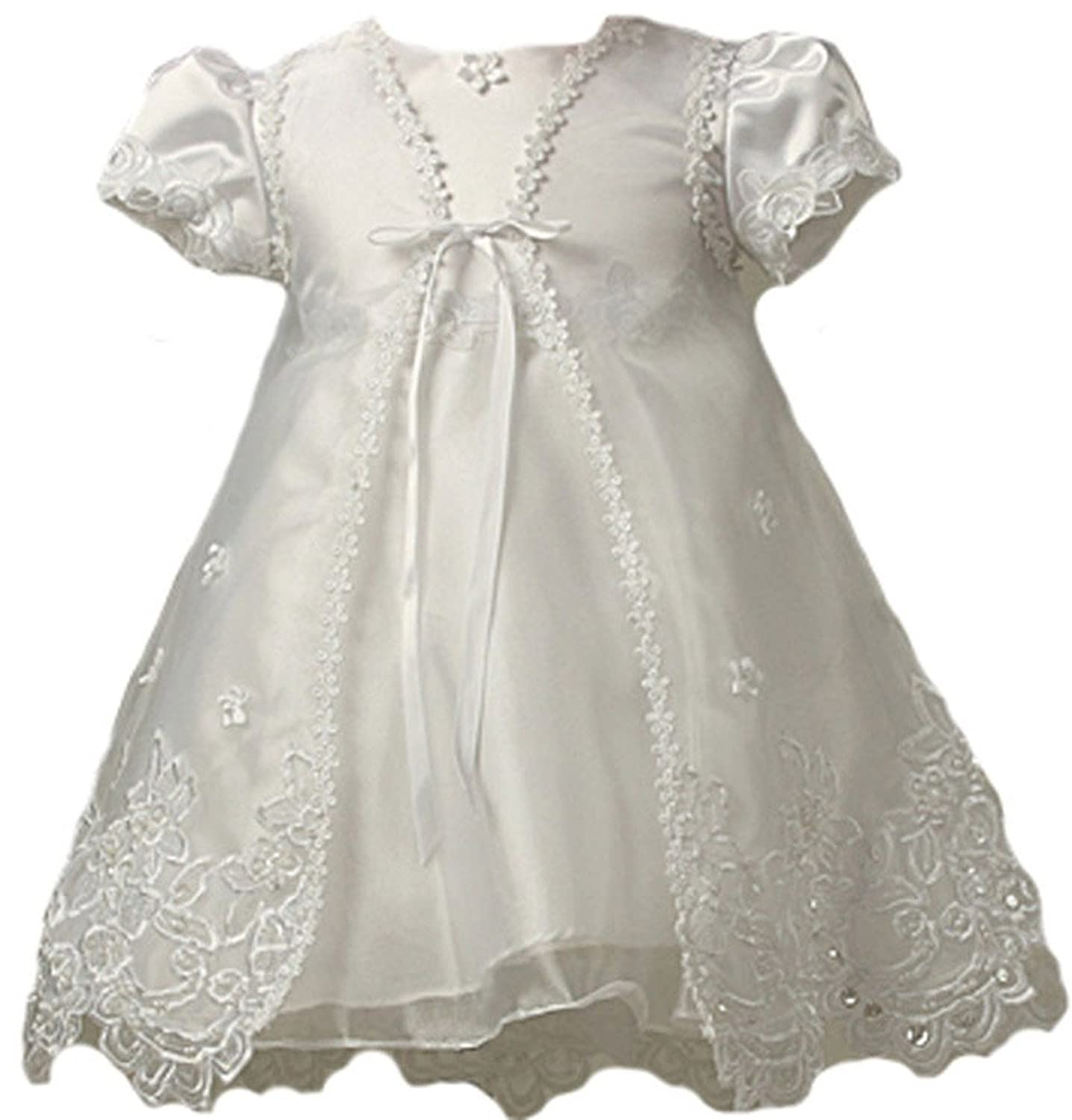 Amazon.com: KID Collection Baby-Girls Sheer Elegance Christening ...