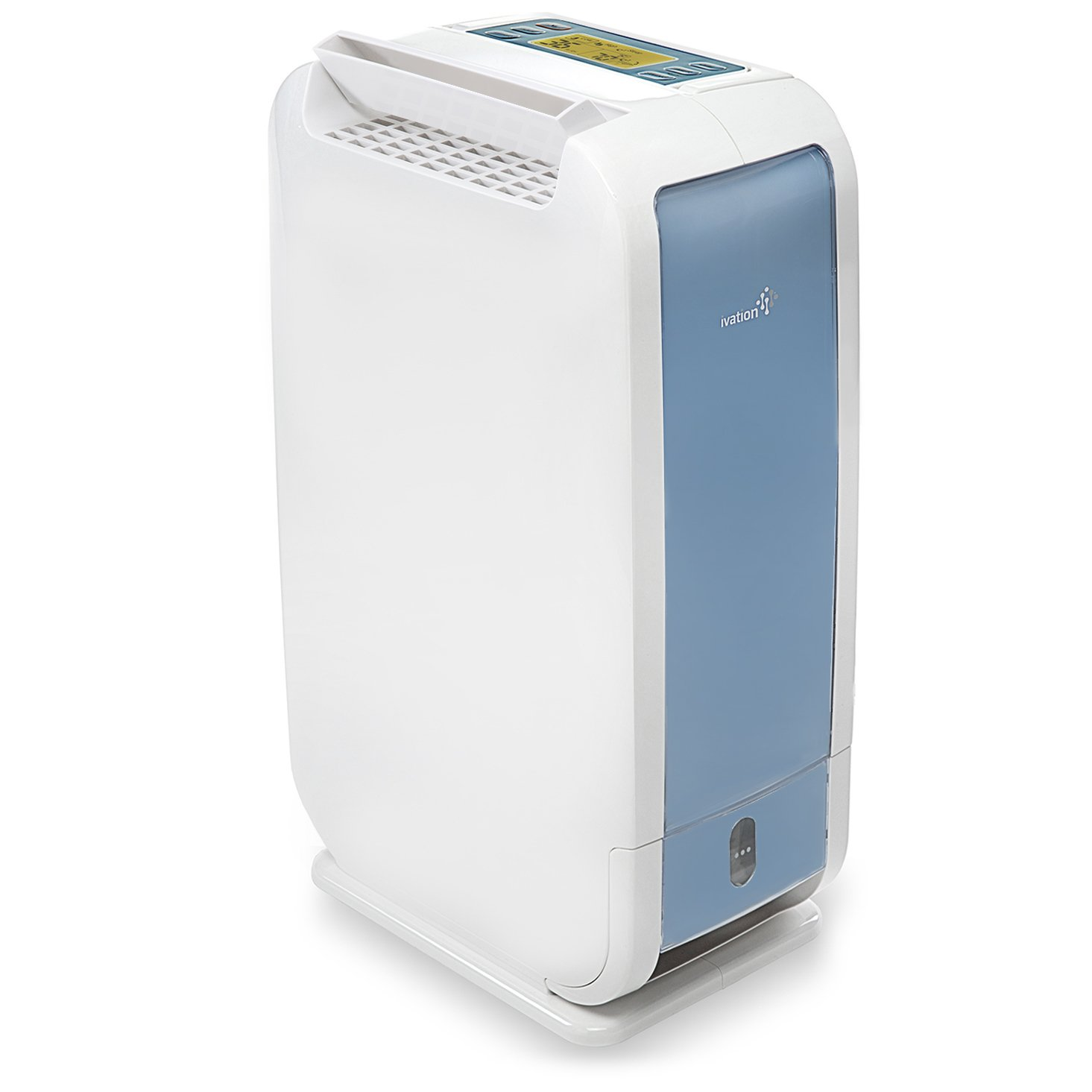 Ivation 13-Pint Small-Area Desiccant Dehumidifier Compact and Quiet - With Continuous Drain Hose for Smaller Spaces, Bathroom, Attic, Crawlspace and Closets - For Spaces Up To 270 Sq Ft, White by Ivation