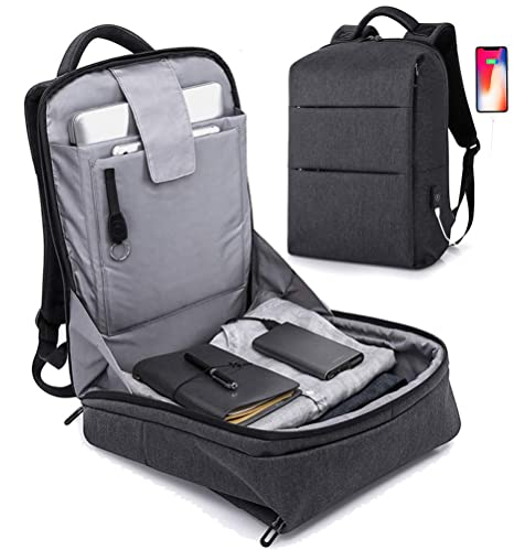 b166a852a70b Anti Theft Backpack - 17inch Business Laptop Backpacks with USB Charging  Port