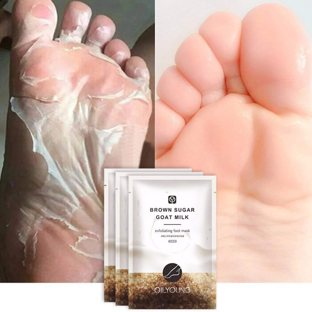 FINEjuyudd 1 Pair Remove Dead Skin Foot Skin Smooth Exfoliating Feet Mask Foot Care