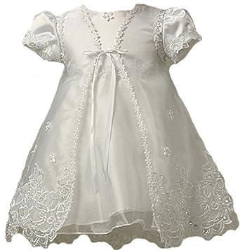 4341fc82d KID Collection Baby-Girls Sheer Elegance Set 0-6M Sm White (kid B561