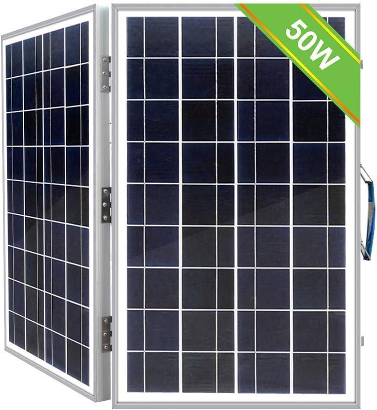Eco Worthy Tragbares Solarpanel Set Mit Handtasche 12 V 40 W Tragbar Faltbar Polykristallin Solarmodul Akku Ladegerät Garten