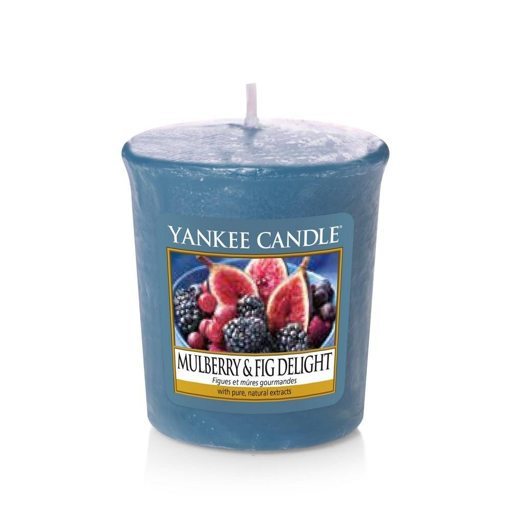Yankee gelso e Fig Delight Votive Candle, Blu, 4.6 x 4.5 x 5 cm Yankee Candle 1556248E