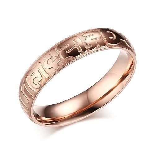 Amazon.com: Aooaz Jewelry – Anillo de acero inoxidable de la ...
