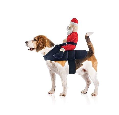 Amazon.com: Santa Claus Jockey perro disfraz por midlee ...