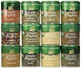 The Simply Organic Starter Gift Set includes the top 12 culinary organic spices which include: organic all purpose seasoning, organic basil, organic cayenne pepper, organic chili powder, organic ground cinnamon, organic cumin, organic garlic powder, ...