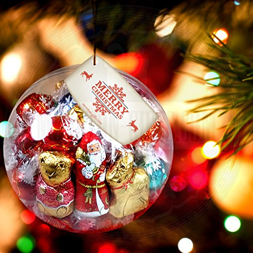 Lindt Christmas Chocolate Large Bauble – Full of Lindt Xmas Treats, Santa, Teddies, Lindor Truffles, Melting Moment and Reindeers - By Moreton Gifts